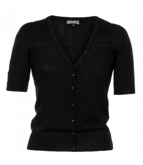 """Jinx"" cardigan in black by Lena Hoschek - Season of the Witch - SS20 summer collection"