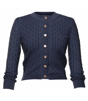 Michèle Cardigan marine in dark blue by Lena Hoschek - SS21 summer collection - Antoinette's Garden