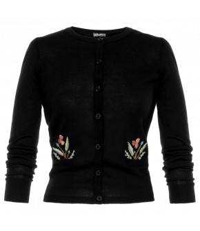 "Black ""Secret Garden"" cardigan by Lena Hoschek - Season of the Witch - SS20 summer collection"