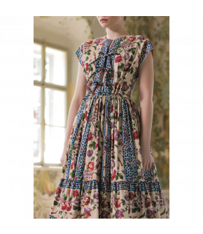 Chérie Dress with floral print by Lena Hoschek - SS21 summer collection - Antoinette's Garden