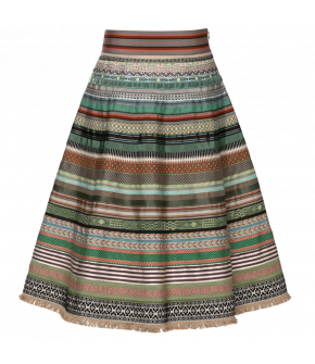 Classic Ribbon Skirt garden state by Lena Hoschek - SS21 summer collection - Antoinette's Garden