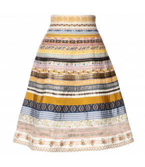 Classic Ribbon Skirt lumière by Lena Hoschek - SS21 summer collection - Antoinette's Garden