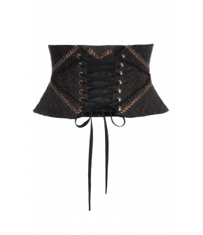 """Ikat"" corset by Lena Hoschek - Artisan Partisan - Autumn/winter collection AW20/21"