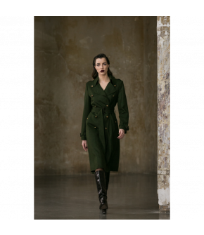 Diana Coat in green by Lena Hoschek Tradition - AW21/22 autumn/winter collection