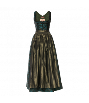 Augenstern Dirndl in black and turquoise by Lena Hoschek Tradition - AW21/22 autumn/winter collection