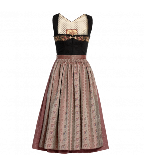 "Short black and pink Dirndl ""Aurelia"" from Lena Hoschek Tradition - autumn/winter collection AW 20/21"