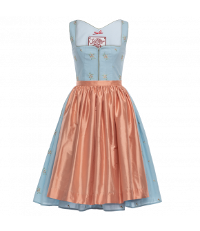 "Blue dirndl ""Blütenmeer"" by Lena Hoschek Tradition - SS20 summer collection"