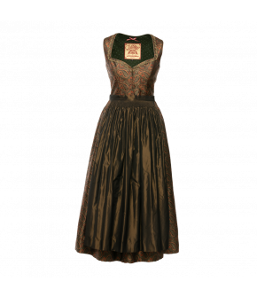 Cornelia Dirndl in orange and green paisley by Lena Hoschek Tradition - AW21/22 autumn/winter collection