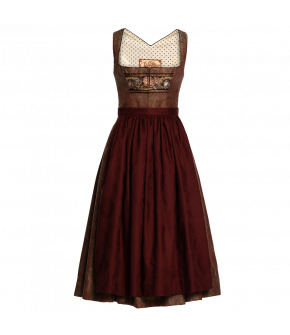 "Patterned earth-toned Dirndl ""Holly"" from Lena Hoschek Tradition - autumn/winter collection AW 20/21"