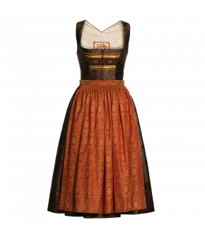 "Green Dirndl ""Jolanda"" from Lena Hoschek Tradition with paisley print - autumn/winter collection AW 20/21"
