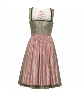 "Silk Dirndl with heart-shaped frills by Lena Hoschek Tradition ""Josefine Dirndl"" - AW 18/19 collection"