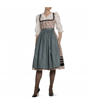 "Printed Dirndl ""Louisa"" from Lena Hoschek Tradition with two different aprons - autumn/winter collection AW 20/21"