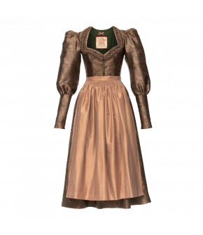 Minna Dirndl in pink and green paisley by Lena Hoschek Tradition - AW21/22 autumn/winter collection