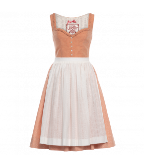 "Peach-coloured dirndl ""Pfirsichblüte"" by Lena Hoschek Tradition - SS20 summer collection"