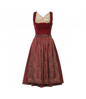 Sehnsucht Dirndl in wine red by Lena Hoschek Tradition - AW21/22 autumn/winter collection