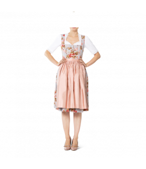 Light-blue rose-print Dirndl with button-front by Lena Hoschek Tradition
