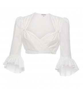 Admont Dirndl Blouse in white - SS21 summer collection - Lena Hoschek Tradition