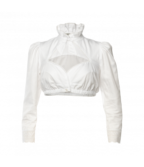 Esterhazy Dirndl blouse in white by Lena Hoschek Tradition - AW21/22 autumn/winter collection