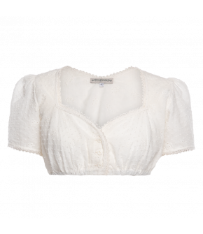 "White dirndl blouse ""Hirschegg"" by Lena Hoschek Tradition - SS20 summer collection"