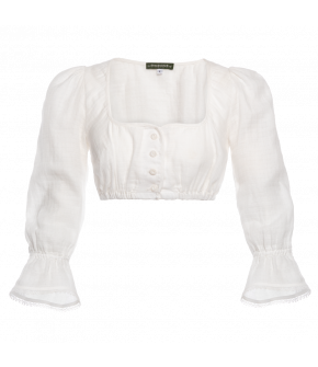 "White dirndl blouse ""Jagerberg"" by Lena Hoschek Tradition - SS20 summer collection"