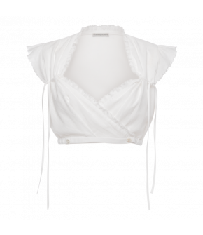 Loretto Dirndl Blouse in white - SS21 summer collection - Lena Hoschek Tradition