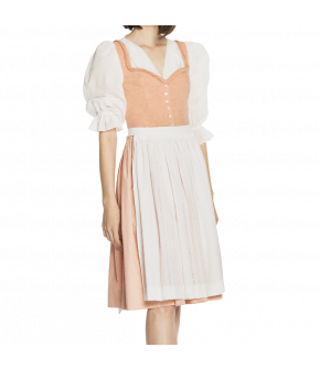 Peach-coloured dirndl