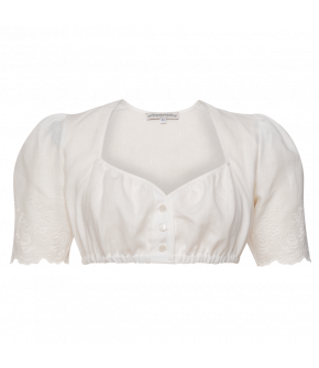 Schwanberg Dirndl Blouse in white - SS21 summer collection - Lena Hoschek Tradition