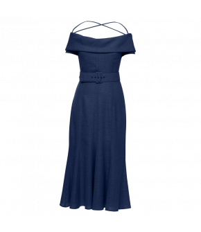 Aimée Dress royal in dark blue by Lena Hoschek - SS21 summer collection - Antoinette's Garden