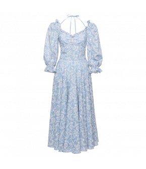 Angélique Dress mignon in blue by Lena Hoschek - SS21 summer collection - Antoinette's Garden