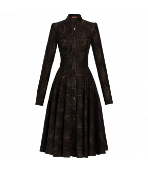 "Paisley ""Barn"" dress from Lena Hoschek with button placket and collar - Artisan Partisan - Autumn/winter collection AW20/21"