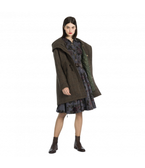 "Grey tweed parka by Lena Hoschek ""Gallagher Parka harris tweed"""