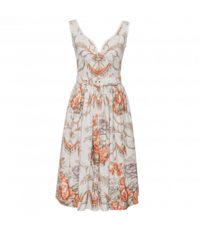 Belvédère Dress with baroque floral print  by Lena Hoschek - SS21 summer collection - Antoinette's Garden
