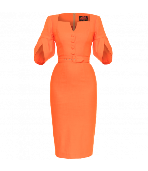 Bossa Nova Dress orange by Lena Hoschek - Tutti Frutti Spring / Summer 2019