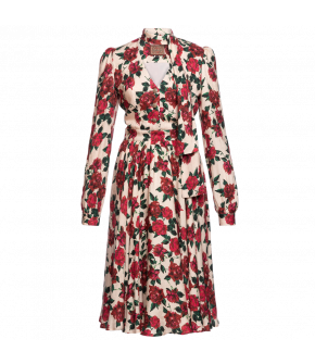 """Charlotte dress vintage rose"" by Lena Hoschek - Artisan Partisan - Autumn/winter collection AW20/21"