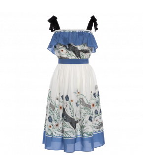 Lena Hoschek Dancing with the wolves dress in white - Season of the Witch - SS20 - FS20 - Lena Hoschek Dancing with the wolves Kleid in Weiß