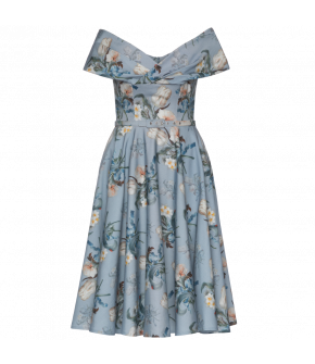 Lena Hoschek Divina Dress tulip blue - Season of the Witch - SS20 - FS20 - Lena Hoschek Divina Kleid in Blau