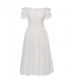 Frou Frou Dress camomille by Lena Hoschek - SS21 summer collection - Antoinette's Garden