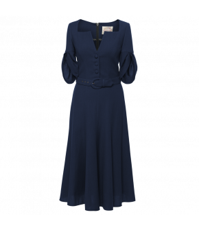 Jolie Dress saphir in blue by Lena Hoschek - SS21 summer collection - Antoinette's Garden