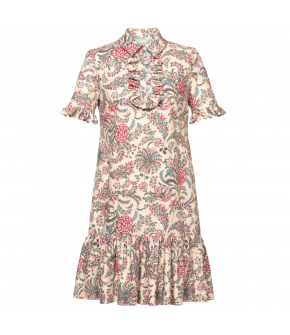 Laissez-Faire Dress with flowers by Lena Hoschek - SS21 summer collection - Antoinette's Garden