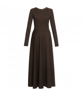 Lena Hoschek Dress Louise in khaki - Artisan Partisan - Autumn/winter collection AW20/21
