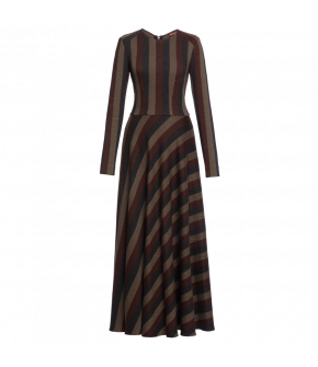 "Striped Lena Hoschek Dress ""Louise"" - Artisan Partisan - Autumn/winter collection AW20/21"