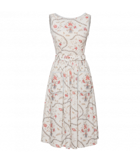 Maggie Dress toile in white by Lena Hoschek - SS21 summer collection - Antoinette's Garden