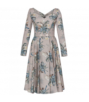 Lena Hoschek Manifesto dress with tulip roses - Season of the Witch - SS20