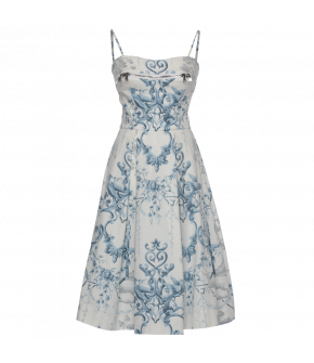 Lena Hoschek Obsession dress fountain blue - Season of the Witch - FS20 - SS20 - Lena Hoschek Obsession Kleid in Blau - Summer 2020