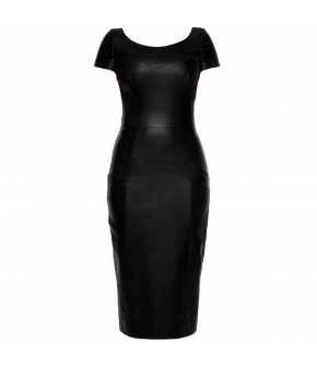 "Black napa-leather dress ""Pleasure"" by Lena Hoschek - Season of the Witch - SS20 summer collection"