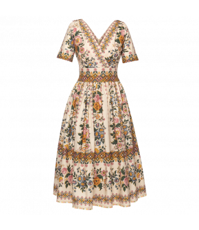 Rosalie Dress with floral print by Lena Hoschek - SS21 summer collection - Antoinette's Garden