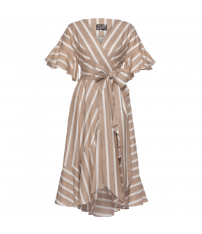 """Sacred"" dress with brown stripes by Lena Hoschek - Season of the Witch - SS20 summer collection"