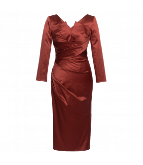 "Red dress ""Silhouette cayenne"" by Lena Hoschek - Artisan Partisan - Autumn/winter collection AW20/21"