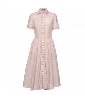 Lena Hoschek Sisterhood dress pink stripes - Season of the Witch - SS20 - FS20 - Lena Hoschek Sisterhood Kleid Rosa