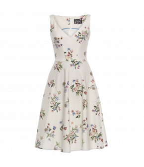 """Sleeveless Lena Hoschek Dress """"Sterling"""" in natural - SS20 - Season of the Witch - Summer 2020"""